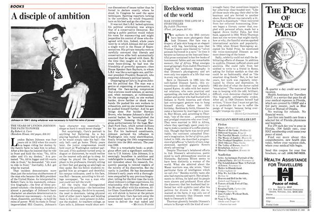 Article Preview: A disciple of ambition, DECEMBER 27,1982 1982 | Maclean's