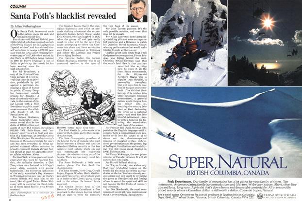 Article Preview: Santa Foth's blacklist revealed, DECEMBER 27,1982 1982 | Maclean's