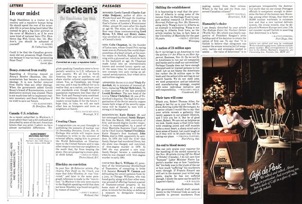 Article Preview: LETTERS, DECEMBER 27,1982 1982 | Maclean's