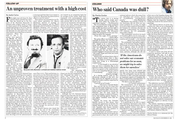 Article Preview: Who said Canada was dull?, DECEMBER 27,1982 1982 | Maclean's