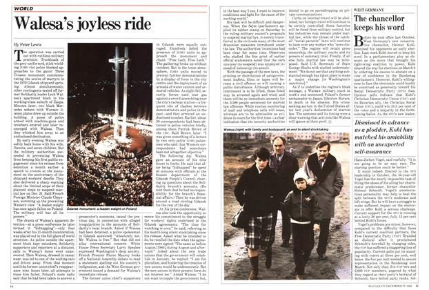 Article Preview: Walesa's joyless ride, DECEMBER 27,1982 1982 | Maclean's