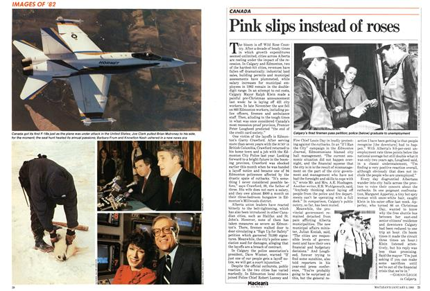 Article Preview: Pink slips instead of roses, January 1983 | Maclean's