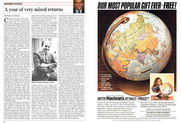 Article Preview: A year of very mixed returns, January 1983 | Maclean's