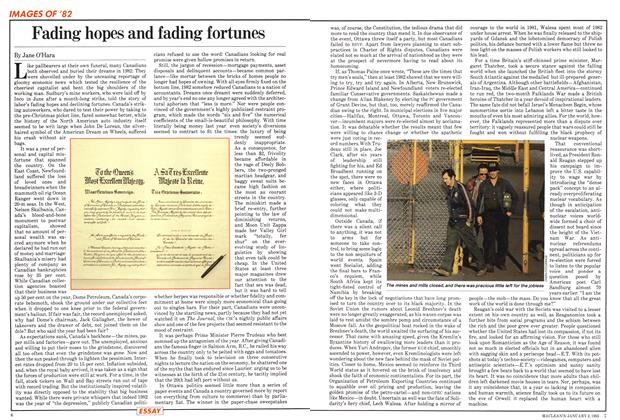 Article Preview: Fading hopes and fading fortunes, January 1983 | Maclean's