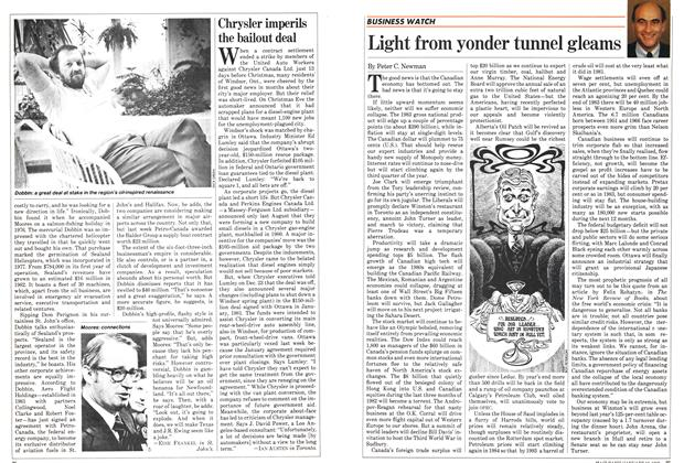 Article Preview: Light from yonder tunnel gleams, January 1983 | Maclean's
