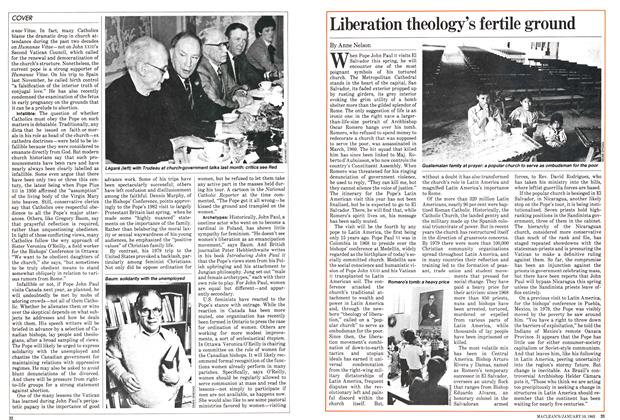 Article Preview: Liberation theology's fertile ground, January 1983 | Maclean's