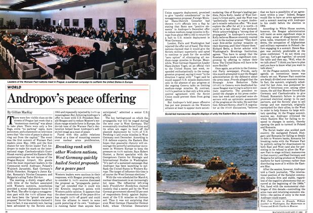 Article Preview: Andropov's peace offering, January 1983 | Maclean's
