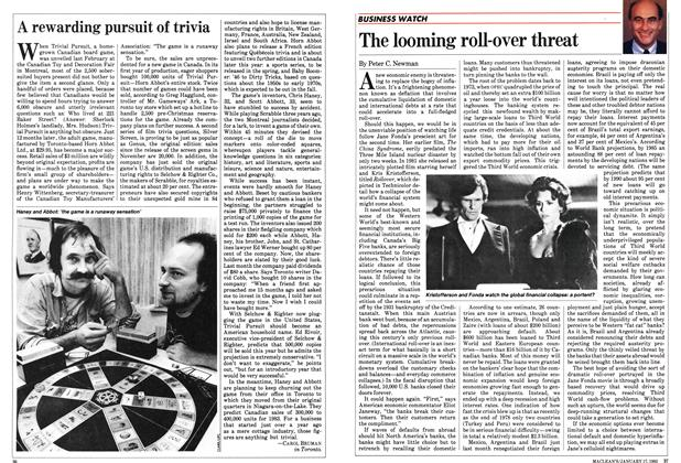 Article Preview: The looming roll-over threat, January 1983 | Maclean's