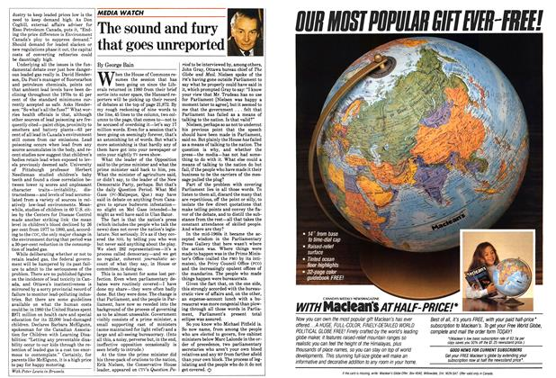Article Preview: The sound and fury that goes unreported, January 1983 | Maclean's