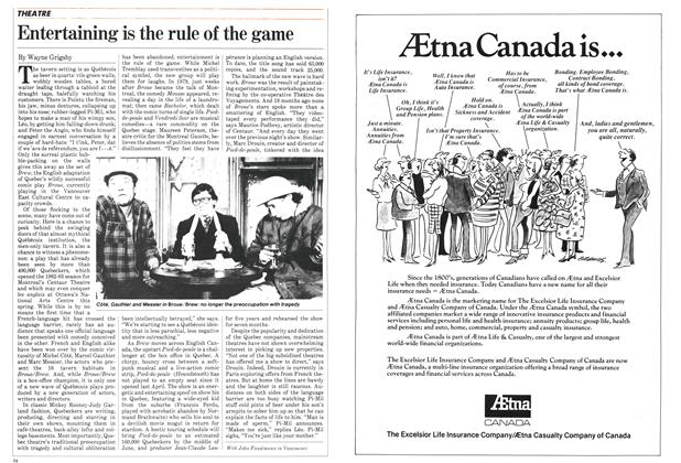 Article Preview: Entertaining is the rule of the game, January 1983 | Maclean's