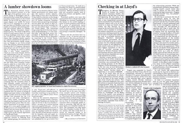 Article Preview: A lumber showdown looms, January 1983 | Maclean's