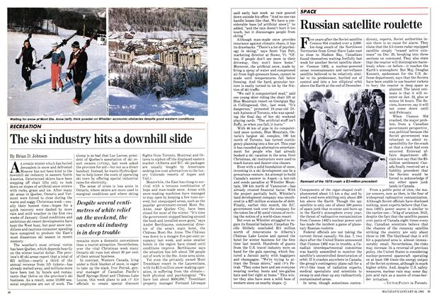 Article Preview: The ski industry hits a downhill slide, January 1983 | Maclean's