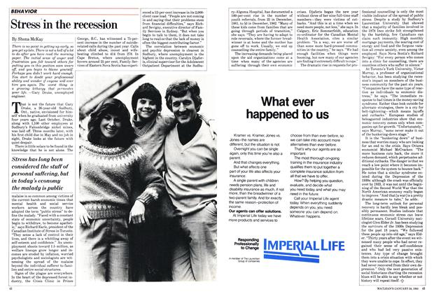 Article Preview: Stress in the recession, January 1983 | Maclean's