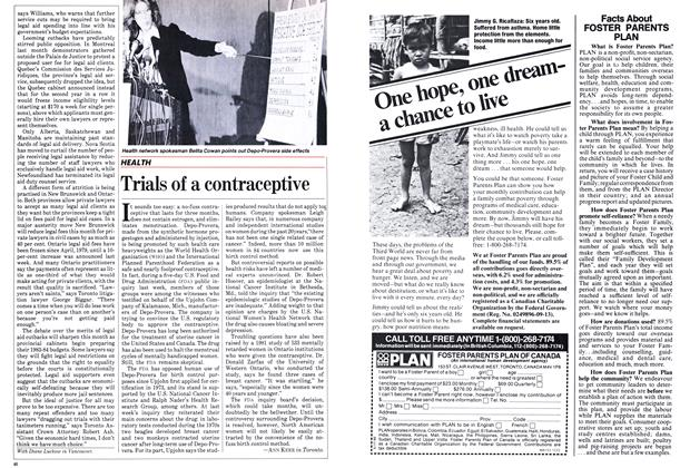 Article Preview: Trials of a contraceptive, January 1983 | Maclean's