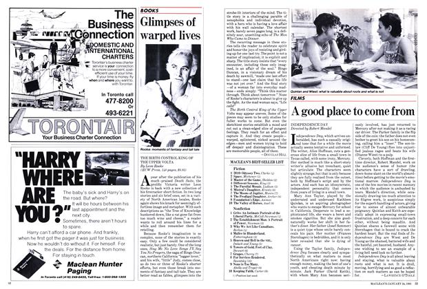 Article Preview: A good place to come from, January 1983 | Maclean's