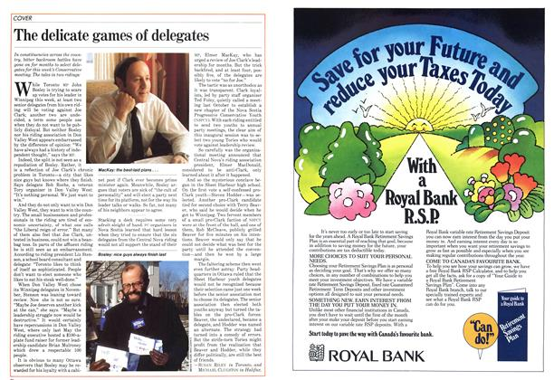 Article Preview: The delicate games of delegates, January 1983 | Maclean's