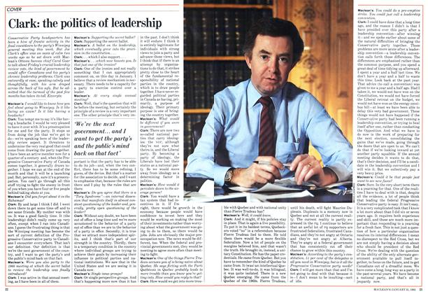 Article Preview: Clark: the politics of leadership, January 1983 | Maclean's
