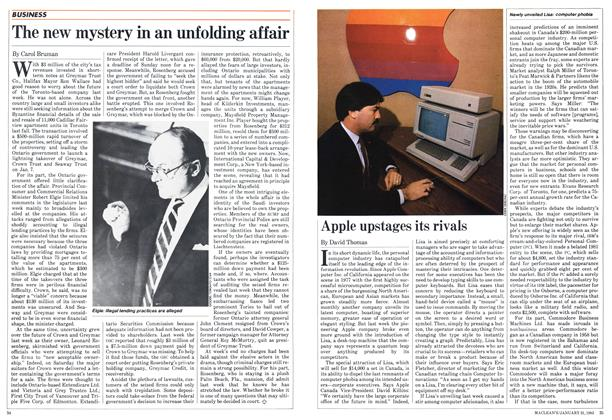 Article Preview: Apple upstages its rivals, January 1983 | Maclean's