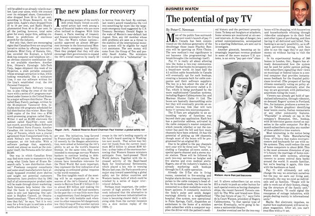 Article Preview: The potential of pay TV, January 1983 | Maclean's