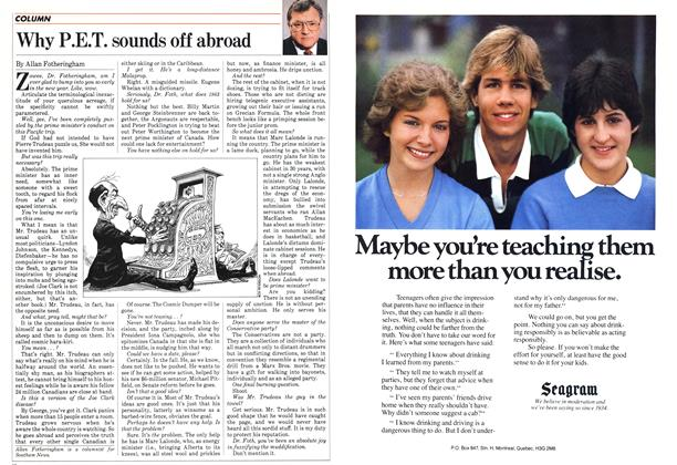 Article Preview: Why P.E.T. sounds off abroad, January 1983 | Maclean's