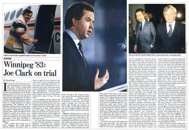 Article Preview: Winnipeg'83: Joe Clark on trial, January 1983 | Maclean's