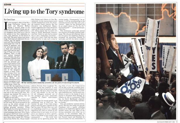 Article Preview: Living up to the Tory syndrome, February 1983 | Maclean's