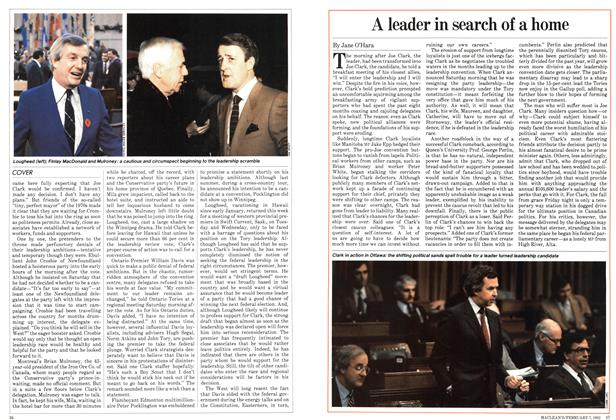 Article Preview: A leader in search of a home, February 1983 | Maclean's