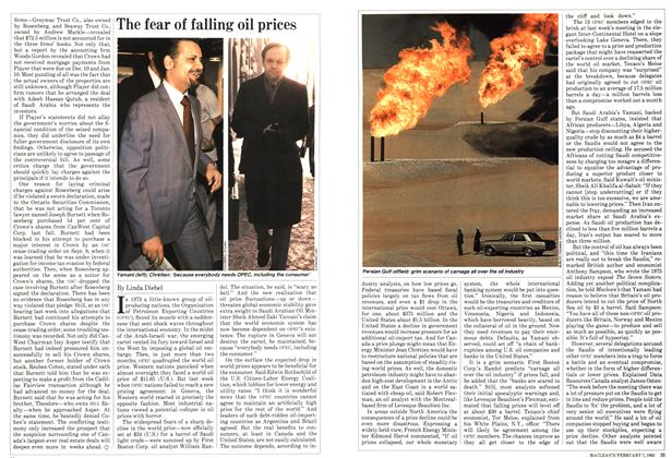 Article Preview: The fear of falling oil prices, February 1983 | Maclean's