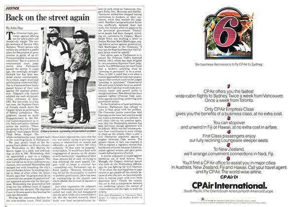 Article Preview: Back on the street again, February 1983 | Maclean's