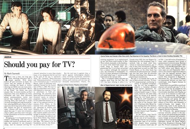 Article Preview: Should you pay for TV?, February 1983 | Maclean's