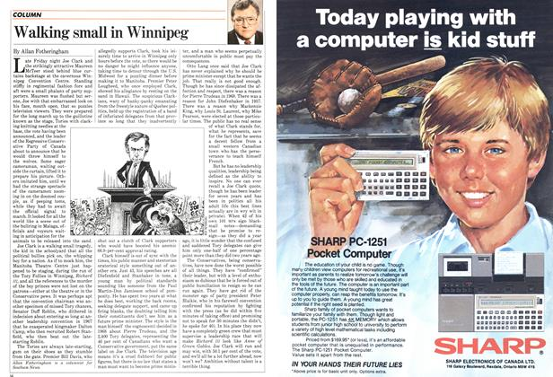 Article Preview: Walking small in Winnipeg, February 1983 | Maclean's