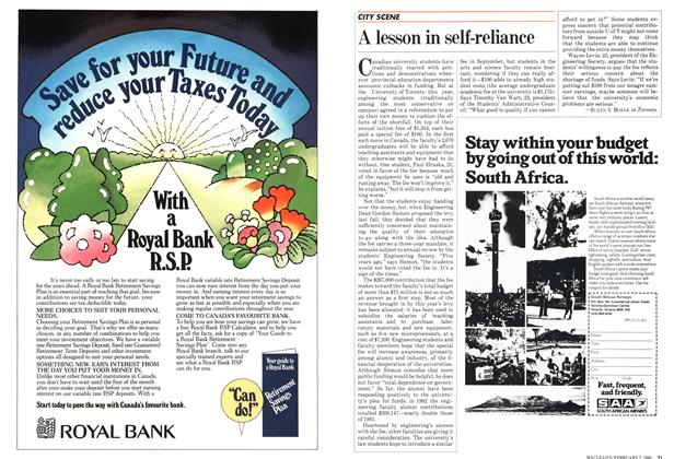Article Preview: A lesson in self-reliance, February 1983 | Maclean's