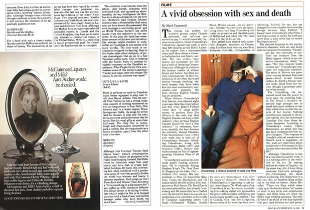 Article Preview: A vivid obsession with sex and death, FEBRUARY 14,1983 1983 | Maclean's
