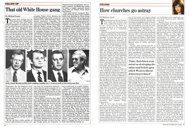 Article Preview: How churches go astray, FEBRUARY 14,1983 1983 | Maclean's