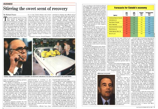 Article Preview: Stirring the sweet scent of recovery, February 1983 | Maclean's