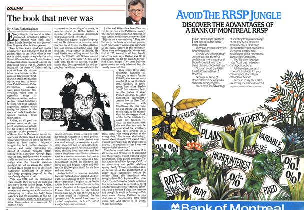 Article Preview: The book that never was, February 1983 | Maclean's