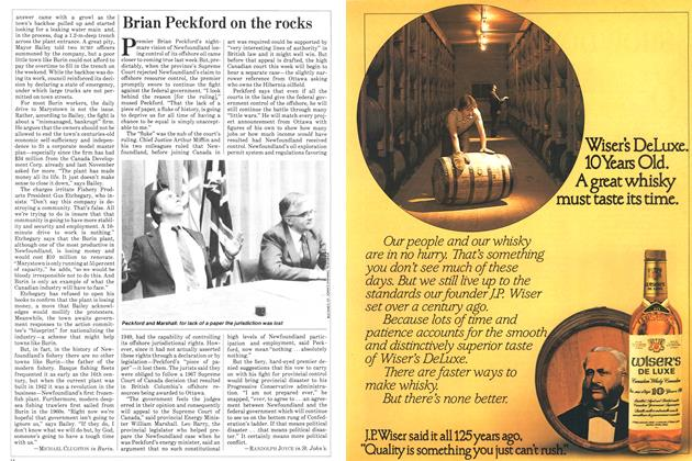Article Preview: Brian Peckford on the rocks, FEBRUARY 28,1983 1983 | Maclean's