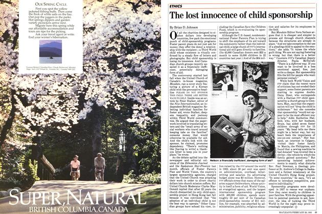 Article Preview: The lost innocence of child sponsorship, FEBRUARY 28,1983 1983 | Maclean's