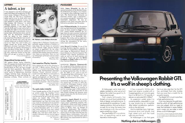 Article Preview: A talent, a joy, FEBRUARY 28,1983 1983 | Maclean's