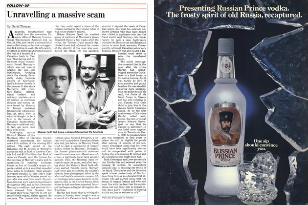 Article Preview: Unravelling a massive scam, FEBRUARY 28,1983 1983 | Maclean's