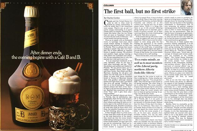Article Preview: The first ball, but no first strike, FEBRUARY 28,1983 1983 | Maclean's