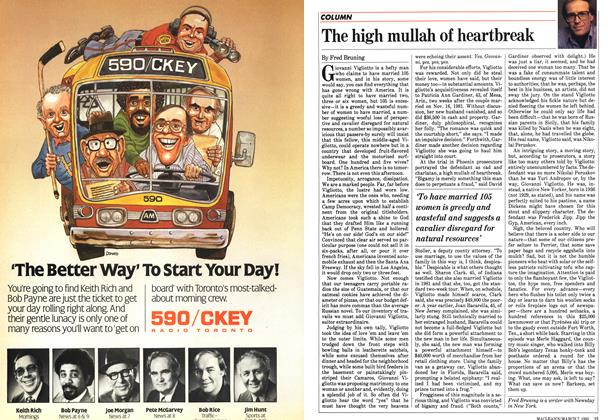 Article Preview: The high mullah of heartbreak, March 1983 | Maclean's