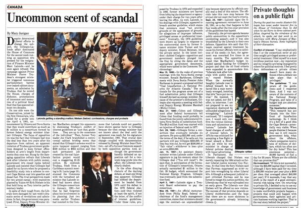 Article Preview: Uncommon scent of scandal, March 1983 | Maclean's
