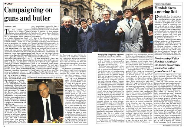 Article Preview: Campaigning on guns and butter, March 1983 | Maclean's