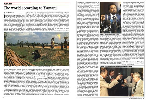 Article Preview: The world according to Yamani, March 1983 | Maclean's