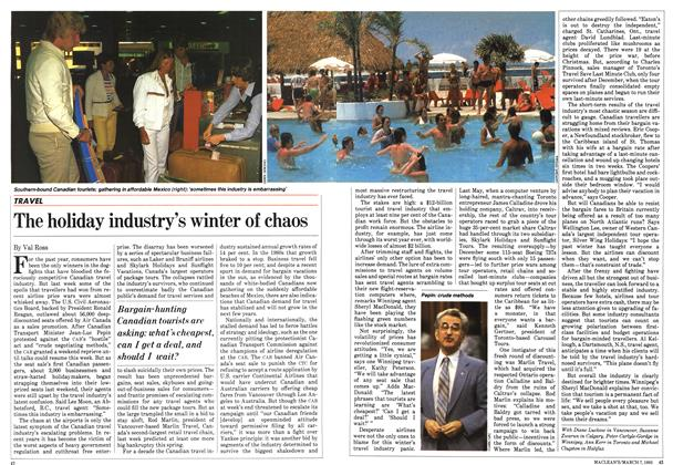 Article Preview: The holiday industry's winter of chaos, March 1983 | Maclean's