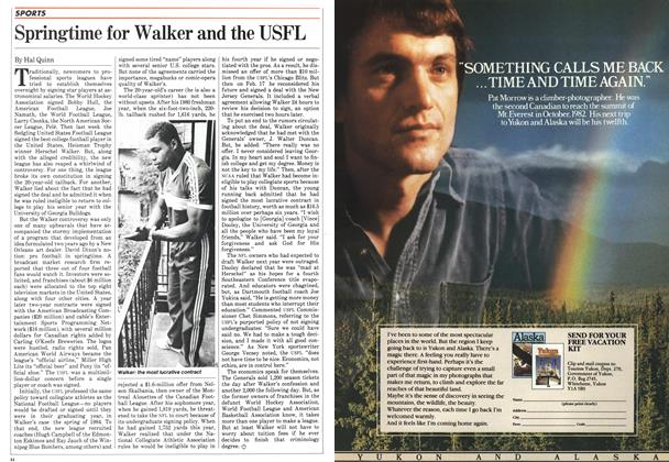 Article Preview: Springtime for Walker and the USFL, March 1983 | Maclean's