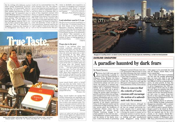 Article Preview: A paradise haunted by dark fears, March 1983 | Maclean's