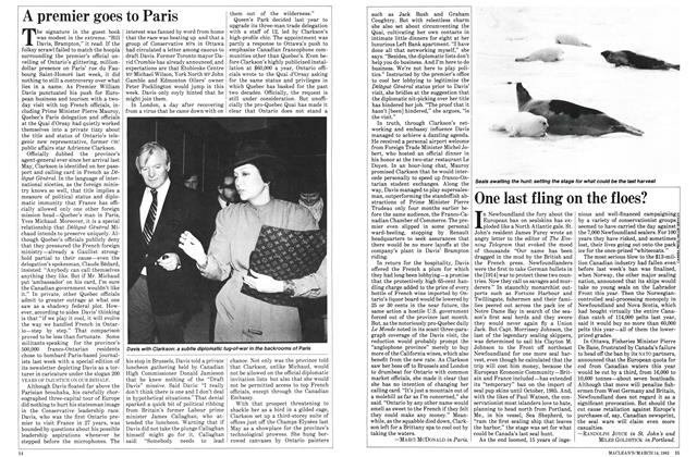 Article Preview: A premier goes to Paris, March 1983 | Maclean's