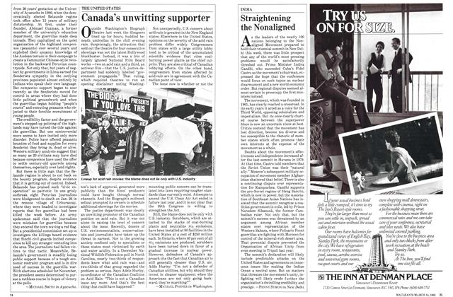 Article Preview: Canada's unwitting supporter, March 1983 | Maclean's